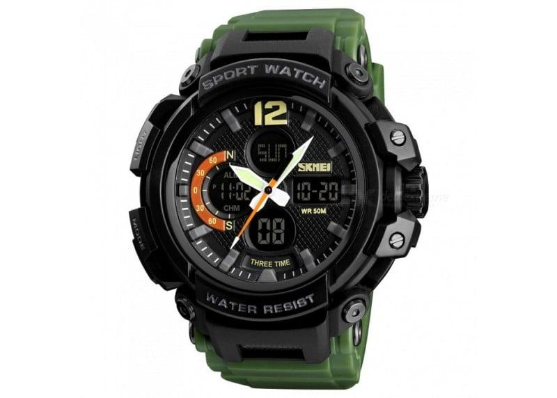 Ρολόι χειρός ανδρικό SKMEI SKMEI 1343 ARMY GREEN - Melodiaeshop 23d17d5fb56
